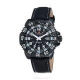 ซื้อ Naviforce นาฬิิกาข้อมือผู้ชาย สีดำ ขาว สายหนัง รุ่น Nf9041M