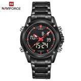 ขาย Naviforce Nf9050 Movt คู่ชาย Quarz นาฬิกาดิจิตอล Led คล้ายคลึงสีแดงสีดำ Naviforce