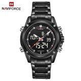 ราคา Naviforce Nf9050 Movt คู่ชาย Quarz นาฬิกาดิจิตอล Led คล้ายคลึง ใน จีน