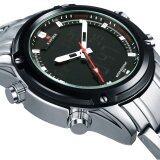 ขาย Naviforce Nf9050 Movt คู่ชาย Quarz นาฬิกาดิจิตอล Led คล้ายคลึงเงิน จีน ถูก