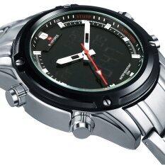 ขาย Naviforce Nf9050 Movt คู่ชาย Quarz นาฬิกาดิจิตอล Led คล้ายคลึงเงิน ถูก ใน จีน