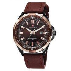 ราคา Naviforce นาฬิกาข้อมือผู้ชาย สีน้ำตาล สายหนัง รุ่น Nf9056 Br2 ใหม่ล่าสุด