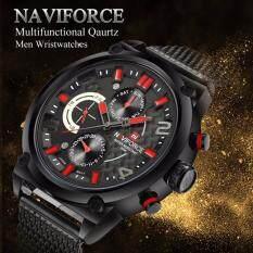 ขาย Naviforce รุ่น Nf9068 สายสเตลเลสแบบหัวเข็มขัดเลื่อนได้ กันน้ำ3บาร์ Naviforce เป็นต้นฉบับ