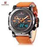 ขาย Naviforce Nf9094M ชาย Dual Movt นาฬิกาข้อมือ Chronograph นาฬิกา สีส้ม ถูก สมุทรปราการ