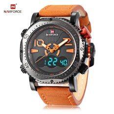 ขาย Naviforce Nf9094M ชาย Dual Movt นาฬิกาข้อมือ Chronograph นาฬิกา สีส้ม ผู้ค้าส่ง