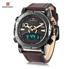 ซื้อ Naviforce Nf9094M Male Dual Movt Watch Alarm Chronograph Men Wristwatch Intl