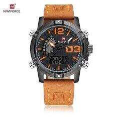 ราคา Naviforce Nf9095M ผู้ชายแบบนาฬิกาส่องสว่างนำแสง 3Atm นาฬิกาข้อมือ ออนไลน์ จีน