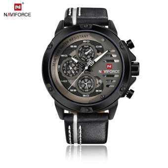 (((ประกันศูนย์ไทย))) NAVIFORCE WATCH นาฬิกาข้อมือผู้ชาย เครื่องญี่ปุ่น กันน้ำ100% สายหนัง รุ่น NF9110