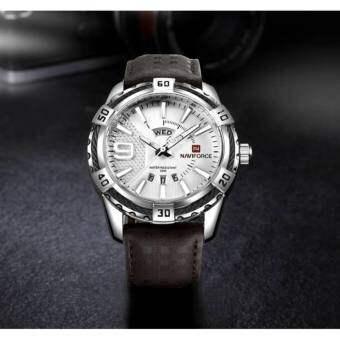 ((ประกันศูนย์ไทย)) NAVIFORCE WATCH นาฬิกาข้อมือผู้ชาย เครื่องญี่ปุ่น กันน้ำ100% สายหนัง รุ่น NF9117L
