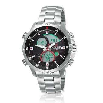 NAVIFORCE WATCH นาฬิกาข้อมือผู้ชาย เครื่องญี่ปุ่น กันน้ำ100% สายแสตนเลสแท้ รุ่น NF9030WB