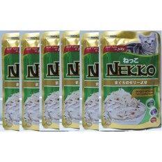 Nekko เน็กโกะอาหารเปียกสำหรับแมวโต รสปลาทูน่า หน้าเนื้อไก่ 70 กรัม 6 ซอง By Termsub Petshop.