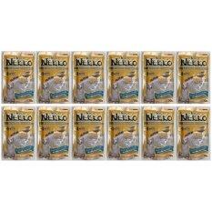 ราคา Nekko Tuna Topping Salmon In Gravy อาหารเปียกแมว ชนิดซอง ปลาทูน่าหน้าปลาแซลมอนในน้ำเกรวี่ 70G 12 Units ใหม่
