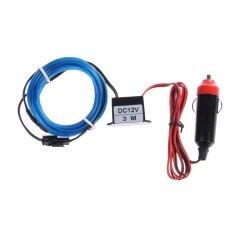 โปรโมชั่น Neon Light Glow El Wire String Tube Car Light Blue Intl ถูก