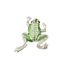 ขาย New Cute Crystal Frog Shape Brooch Pins Clip Animal Jewelry Gifts Intl จีน
