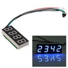 โปรโมชั่น ใหม่ Dc7 30 โวลต์ดิจิตอล Led นาฬิกาสำหรับรถยนต์รถจักรยานยนต์อัตโนมัติสีฟ้า จีน