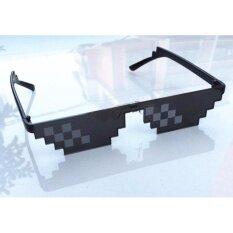 ส่วนลด New Deal With It Sunglasses Men Minecraft Polygonal Lol Thug Life Shades Masculine 8 Bits Style Pixel Be Yourself Glasses Neff Intl ฮ่องกง