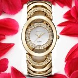 ขาย New Fashion Ladies Luxury Gold Quartz Wristwatches Women Famous Brand Rhinestone Watches Relojes Mujer Montre Femme Intl Unbranded Generic ถูก