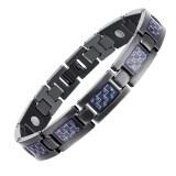 ทบทวน New Health Care Energy Magnetic Titanium Bracelet For Men Blue Intl Unbranded Generic