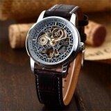 ขาย New Men Classic Skeleton Automatic Mechanical Leather Strap Fashion Sport Military Wrist Watch Pmw074 นาฬิกาข้อมือชาย แฟชั่น สปอร์ต เท่ Intl ถูก