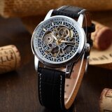 ราคา New Men Classic Skeleton Automatic Mechanical Leather Strap Fashion Sport Military Wrist Watch Pmw075 Intl ใหม่