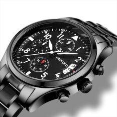 ซื้อ New Men Top Famous Brand Kinyued Stainless Steel Watches Fashion Casual Quartz Men S Wristwatches Item Specification Intl ถูก สมุทรปราการ