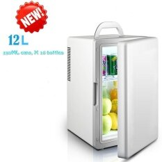 New Mini Mini Fridge Dormitory Small Family 12L Large Capacity Cold Hot Dual Purpose Refrigerator Intl จีน