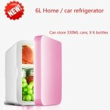 ซื้อ New Mini Mini Fridge Dormitory Small Family 6L Large Capacity Cold Hot Dual Purpose Refrigerator Pink Intl ออนไลน์ ถูก