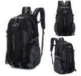 ส่วนลด New Outdoor Hiking Camping Waterproof Nylon Travel Luggage Rucksack Backpack Bag Black