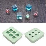 New Silicone Mould Diy Resin Necklace Pendant Making Mold Round Rectangle Green Intl เป็นต้นฉบับ