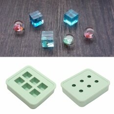 ขาย New Silicone Mould Diy Resin Necklace Pendant Making Mold Round Rectangle Green Intl Unbranded Generic