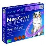 ส่วนลด Nexgard Spectra ชนิดเคี้ยว สำหรับสุนัข 15 30 Kg ป้องกันและกำจัดเห็บ หมัด พยาธิหนอนหัวใจ พยาธิทางเดินอาหาร 1กล่อง มี 3เม็ด