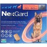 ซื้อ Nexgard Spectra สุนัข 30 60 กก ยากินกำจัดเห็บหมัด กันพยาธิหัวใจ ถ่ายพยาธิลำไส้ กล่อง 3 ก้อน ชนิดเคี้ยว Exp 05 2019 ส่งฟรี Kerry Merial เป็นต้นฉบับ