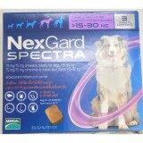 ขาย Nexgard Spectra For Dogs Chewable Tablets ยากำจัดเห็บ หมัด และป้องกันการเกิดพยาธิหนอนหัวใจ ชนิดเคี้ยว สำหรับสุนัข นน มากกว่า 15 30Kg 1 กล่อง บรรจุ 3 เม็ด Nexgard Spectra ถูก