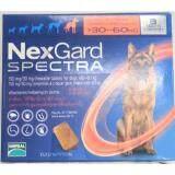 ซื้อ Nexgard Spectra For Dogs Chewable Tablets ยากำจัดเห็บ หมัด และป้องกันการเกิดพยาธิหนอนหัวใจ ชนิดเคี้ยว สำหรับสุนัข นน มากกว่า 30 60Kg 1 กล่อง บรรจุ 3 เม็ด Nexgard Spectra ออนไลน์