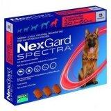 ขาย Nexgard Spectra ชนิดเคี้ยว สำหรับสุนัข 30 60 Kg ป้องกันและกำจัดเห็บ หมัด พยาธิหนอนหัวใจ พยาธิทางเดินอาหาร 1กล่อง มี 3เม็ด Unbranded Generic ใน ชุมพร