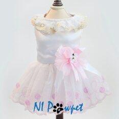 ส่วนลด Ni Pawpet ชุดกระโปรงราตรี สุนัข แมว สีขาวชมพู กรุงเทพมหานคร