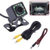 Night Vision 12Led Lights Waterproof Car Auto Rearview Backup Camera Black Intl จีน