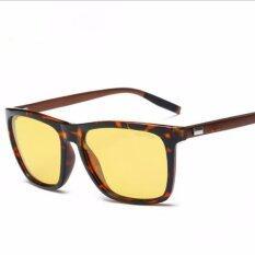 ขาย ซื้อ Night Vision Sun Glasses Brand Designer Alloy Frame Sunglasses Women And Men Uv400 Polaroid Lens 2140 Leopard Frame Intl ใน จีน
