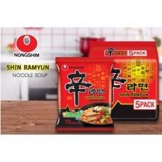 ขาย Nongshim Shinramyun Noodle Soup มาม่าเกาหลีนงชิม ซินราเมียน นู้ดเดิ้ล ซุป 2 แพ็ค 10 ซอง ถูก ใน กรุงเทพมหานคร