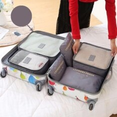 ซื้อ Nylon กระเป๋าจัดระเบียบเสื้อผ้าสำหรับเดินทาง 6 ชิ้น Travel Organizers Packing Pouches Set 6 Pieces ถูก กรุงเทพมหานคร