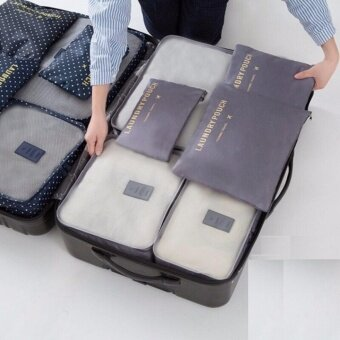 Nylonกระเป๋าจัดระเบียบเสื้อผ้าสำหรับเดินทาง 6 ชิ้น Travel Organizers Packing Pouches Set 6 Pieces