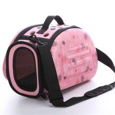 ซื้อ Oh Lovely Floral Soft Eva Portable Pet Bag Breathable Outdoor Carrier Pet Bag Pink S Intl ใหม่ล่าสุด