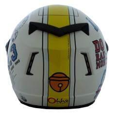 หมวกกันน็อคลิขสิทธิ์ โดราเอม่อน รุ่น Racer02 สีขาว เป็นต้นฉบับ