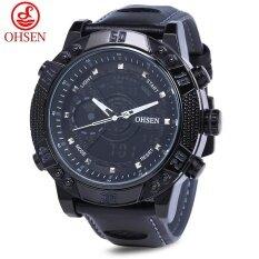 Ohsen Ad1609 ผู้ชายแบบสปอร์ต 3Atm นาฬิกาจับเวลานาฬิกาปลุกวันที่นาฬิกาดิจิตอลนาฬิกาข้อมือ Tc เป็นต้นฉบับ