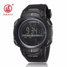 ขาย Ohsen Brand 1613 Men Rubber Strap Digital Outdoor Sport Waterproof Wristwatch Black Intl Ohsen