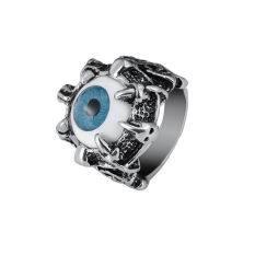 ราคา Okdealsnอุ้งตีนมังกรของพวกพังค์สไตล์วินเทจสีน้ำเงินดวงตาปีศาจเหล็กกล้าไร้สนิมแหวนหัวสิงห์ ที่สุด