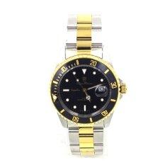 ราคา Olym Pianus นาฬิกาข้อมือชาย กระจกแซฟไฟร์กันรอย 89983 Silver Gold หน้าดำ ใหม่ล่าสุด