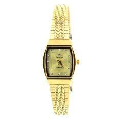 ขาย Olym Pianus นาฬิกาข้อมือหญิง กระจกแซฟไฟร์กันรอย 5101L ทอง หน้าขาว ใหม่