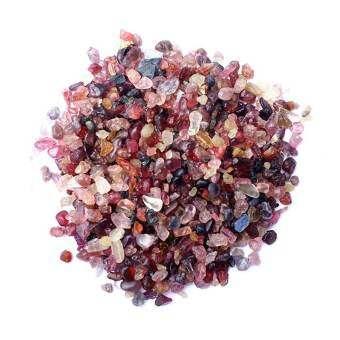 Omsin เศษพลอยสปิเนล Spinal พม่า คละสี ดิบธรรมชาติแท้  100g.