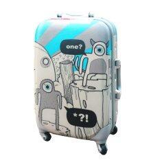 ขาย Onebagshop กระเป๋าเดินทางล็อคข้างกันน้ำ รุ่นK010 Size 24 นิ้ว สีฟ้าเทา Onebagshop